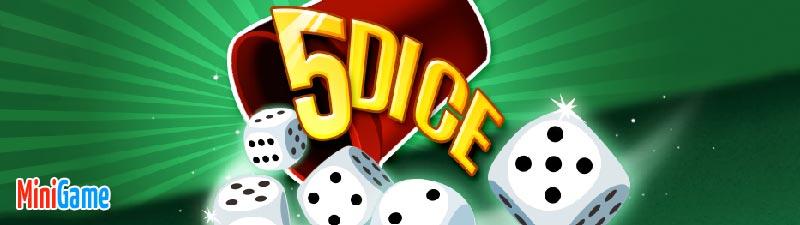 Speel 5 Dice Yahtzee